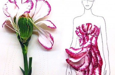 Artistul care transforma florile in design de moda